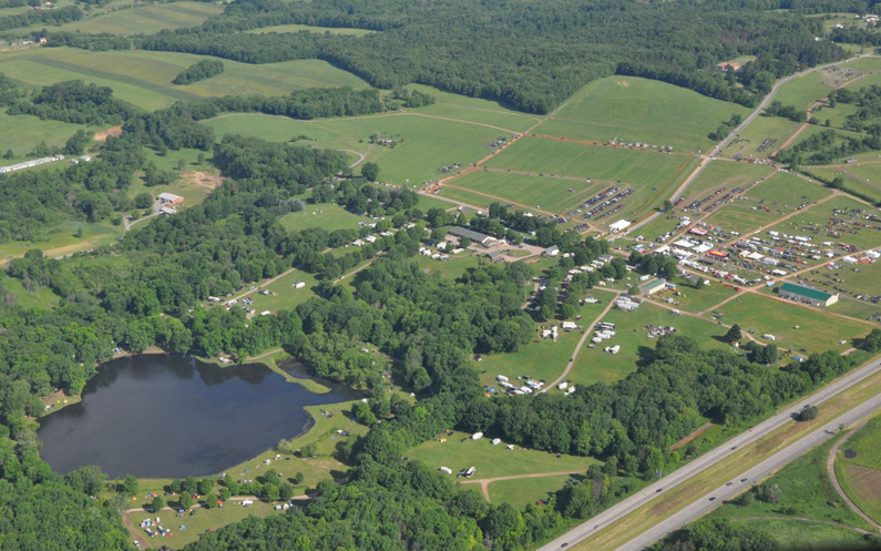large outdoor tournament event site
