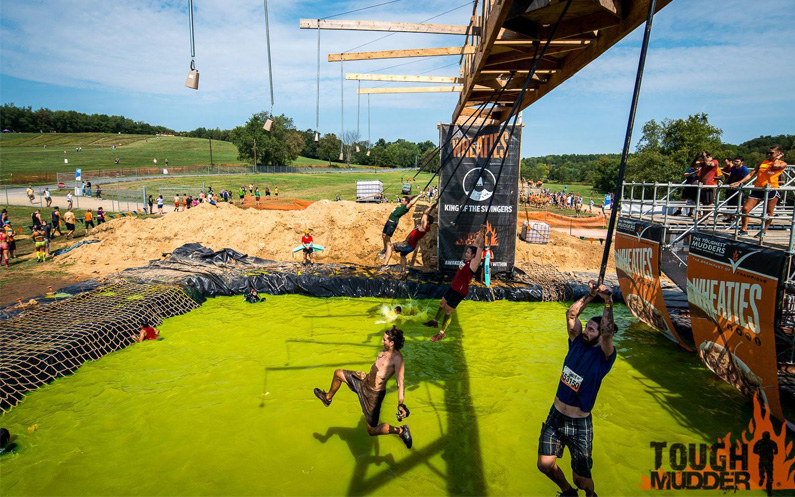Tough Mudder competition at Cooper's Lake