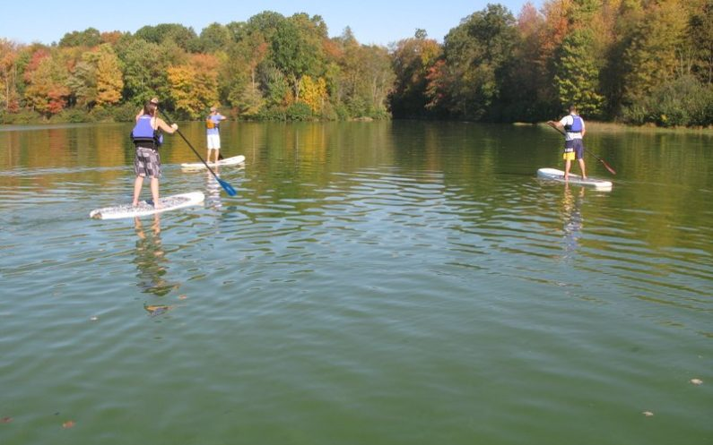 Paddleboarding at Moraine State Park
