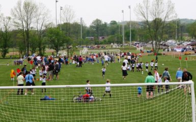 Soccer tournament at Graham Park in Cranberry, PA