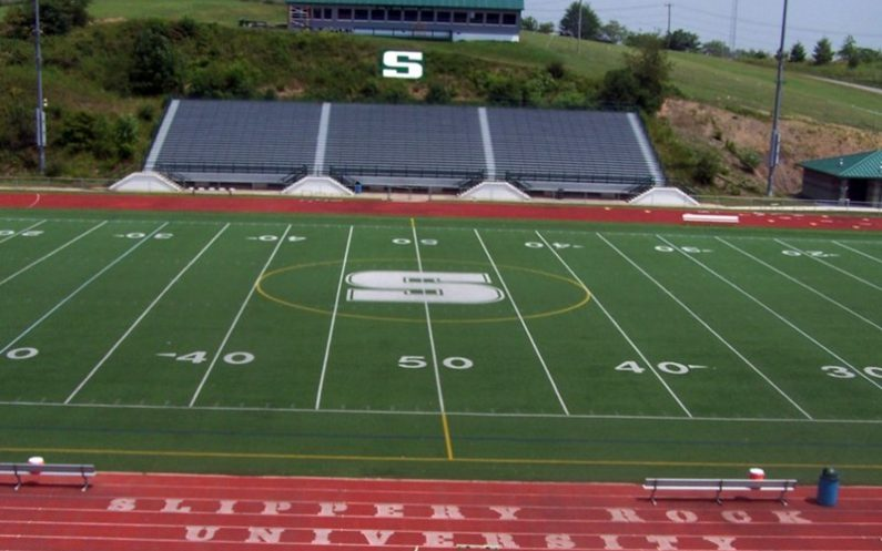 slippery rock university football field outdoor sporting venue