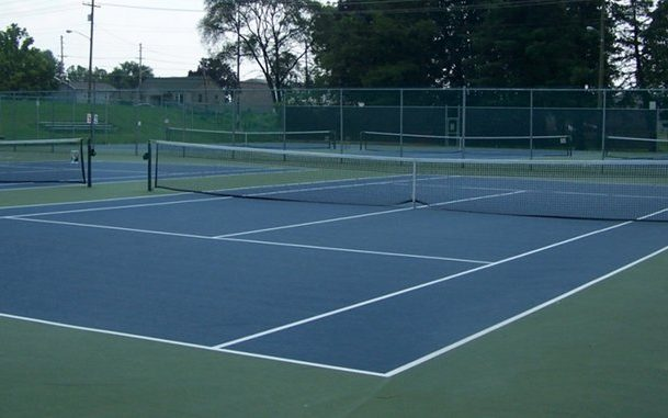 tennis court outdoor sports site