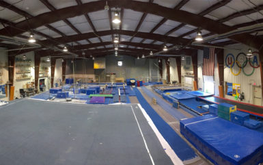 indoor sporting venue for gymnastics