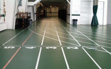 large indoor track for track meets